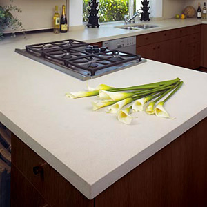 Caesarstone blizzard quartz countertops installed for Caesarstone cost per slab