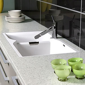 Caesarstone Nougat Quartz Countertops Installed