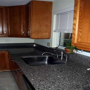 Silestone mountain mist quartz countertops for Kitchen cabinets 90808