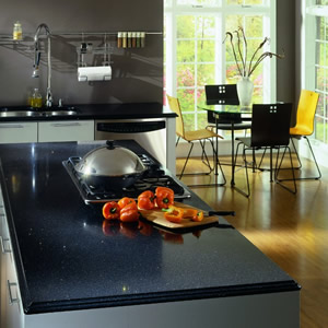 Silestone stellar night quartz countertops for Stellar night quartz price